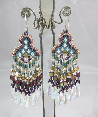 Fringed with glass ab daggers