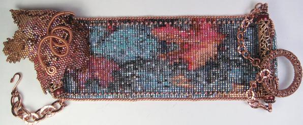 3-D bead loomed cuff