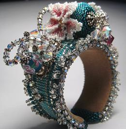 Beaded Multiplicity Wrist Corsage