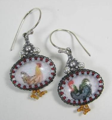 Rooster and Hen won't stay inthe bezel!