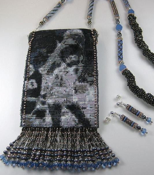 Robin Roberts Beaded Cell Phone Bag, picture of Robin in College
