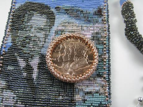 Bead Bezeled Tuskegee Airmen Copper Medal