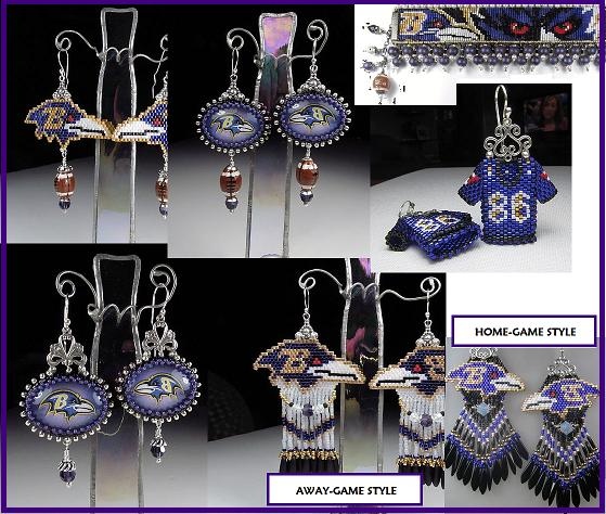 Baltimore Ravens Earrings