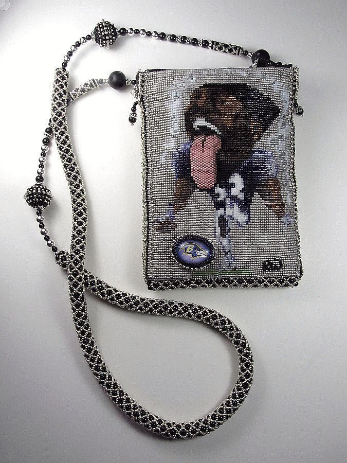 Ray Lewis Bead Woven Cell Phone Bag