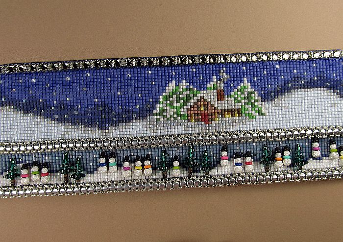 Bead Loomed Snow Cuff