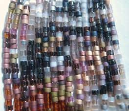 Tiger Earring Beads Close Up