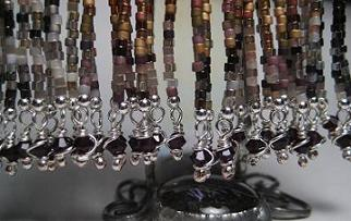 Tiger Earring Wire Wraps Close Up