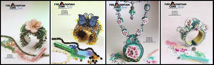 Shell Ads of my beadwork featured in FMG Ads