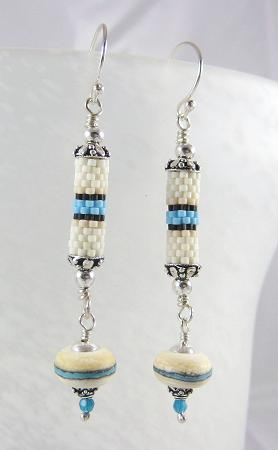 Seed bead tubes designed to match the lampwork dangle