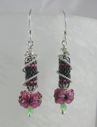 Similar lampwork with seed beaded tubes