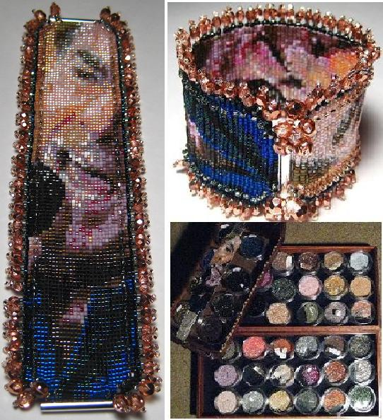 Beads, beading, beaded Wrist Corsages