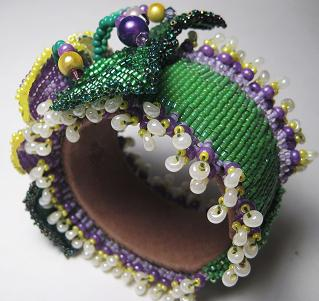 Beaded Pansey Wrist Corsage